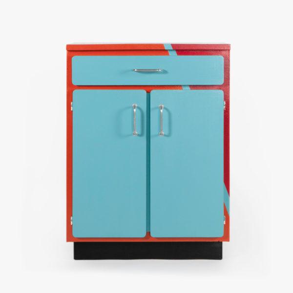 Buffet vaisselier en bois multicolore écoresponsable