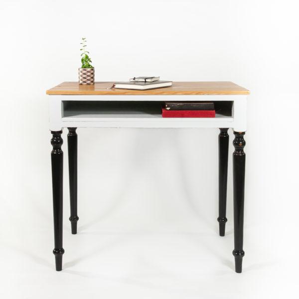 Bureau avec rangement classique bois massif meuble éthique