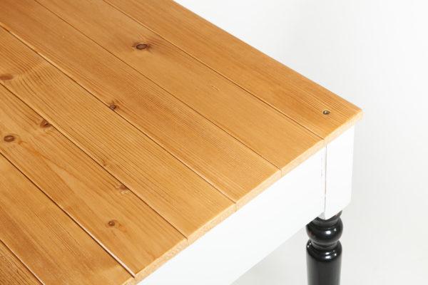 Bureau avec rangement bois massif gris noir meuble écoresponsable