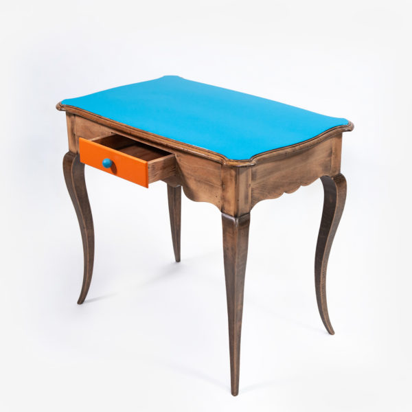 Bureau classique chic bleu bois massif écoresponsable