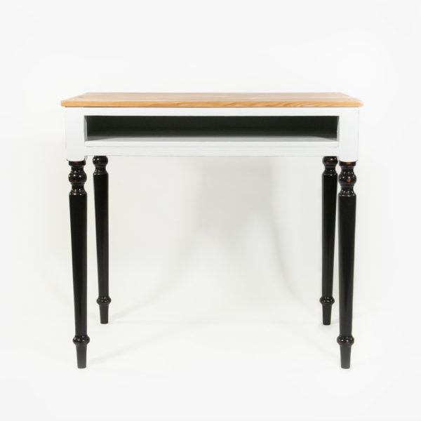 Bureau avec rangement bois massif gris noir meuble éthique