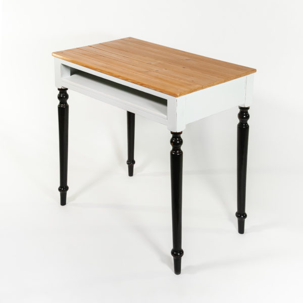 Bureau avec rangement bois massif classique meuble éthique