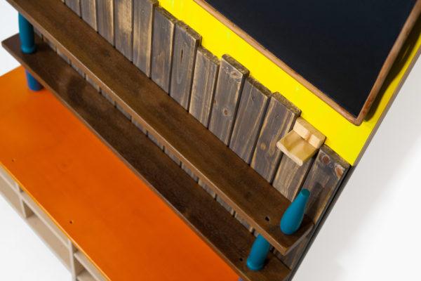 Étagère bibliothèque colorée écoresponsable