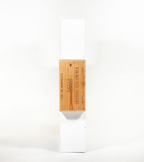 Étagère bibliothèque caisses à vin recyclées meuble bois responsable