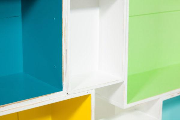 Étagère bibliothèque caisses à vin design meuble éthique