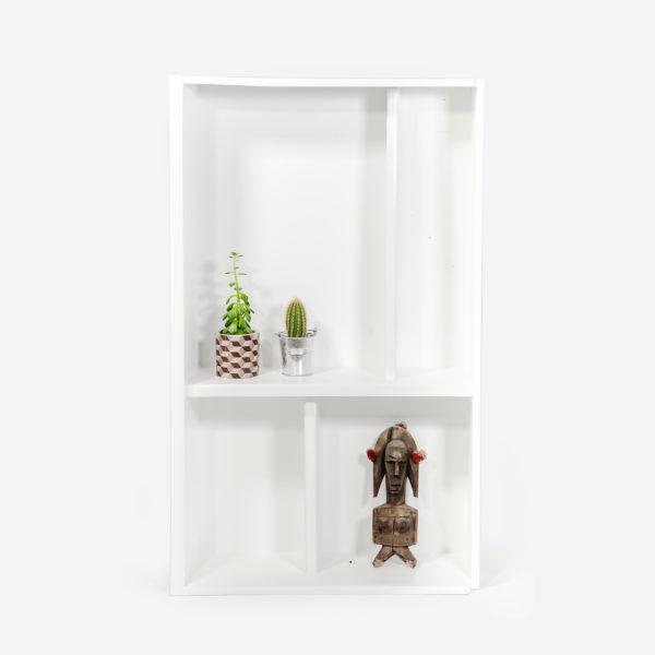 Étagère bibliothèque scandinave blanche bois massif meuble écoresponsable