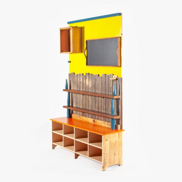 Étagère bibliothèque atypique écologique