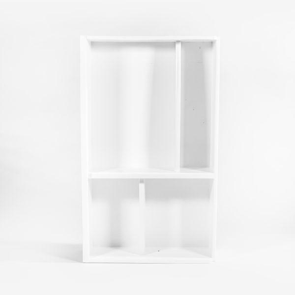 Étagère bibliothèque design blanche bois massif meuble éthique