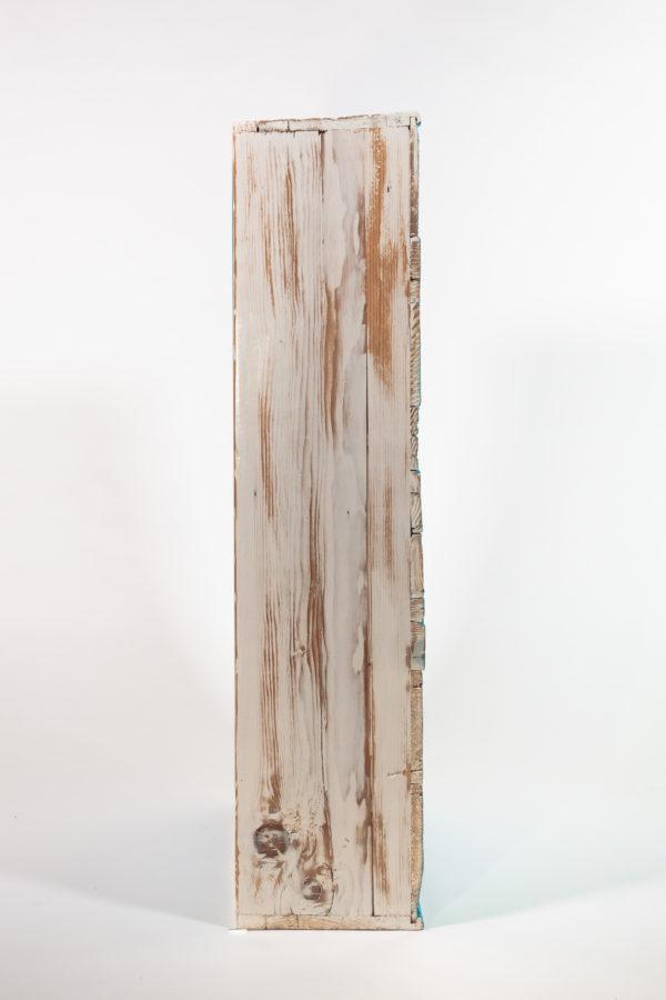 Étagère bibliothèque écoresponsable bois massif effet vieilli