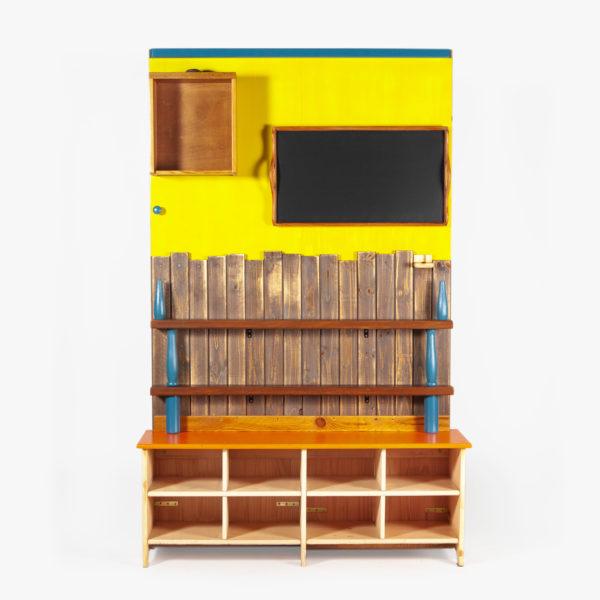 Étagère bibliothèque originale bois recyclé rustique