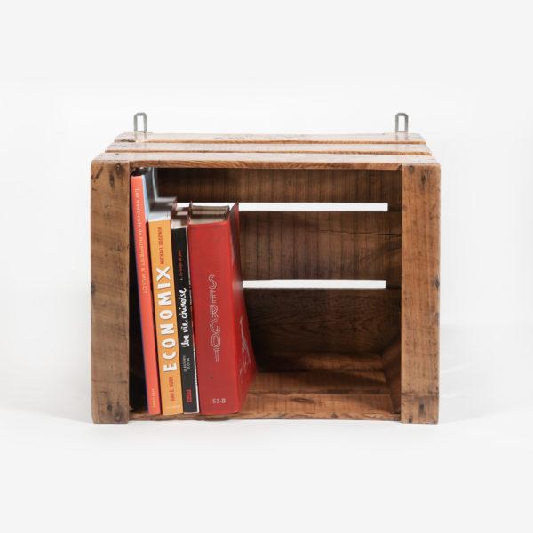 Étagère ancienne caisse bois massif upcycling meuble éthique