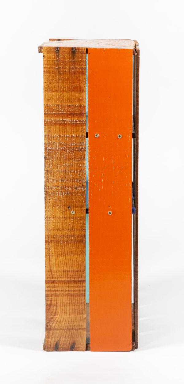 Étagère cuisine bois massif ancienne caisse meuble éthique