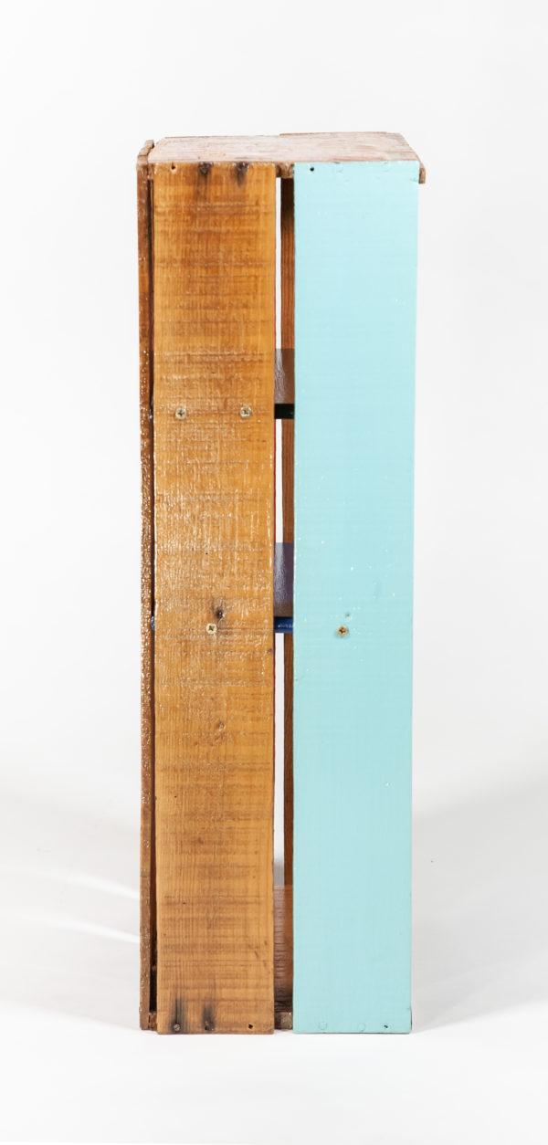 Étagère cuisine bois massif ancienne caisse fabrication écoresponsable