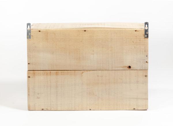 Étagère épicerie bois massif ancienne caisse upcycling