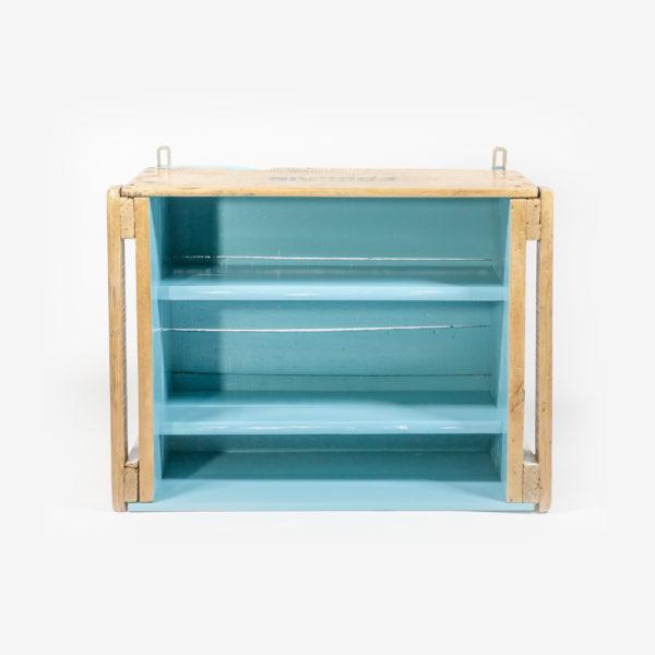 Étagère rustique bois massif ancienne caisse meuble éthique