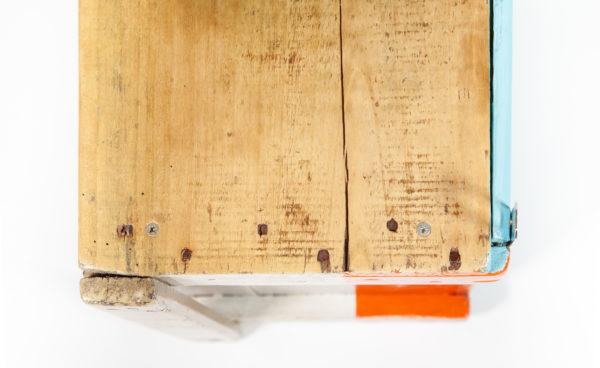 Étagère rustique bois massif ancienne caisse upcycling