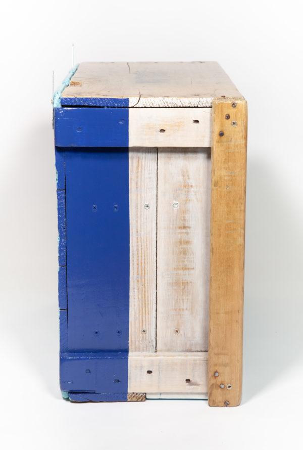 Étagère cuisine bois massif ancienne caisse upcycling écoresponsable