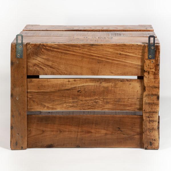Étagère ancienne caisse bois massif upcycling meuble écoresponsable