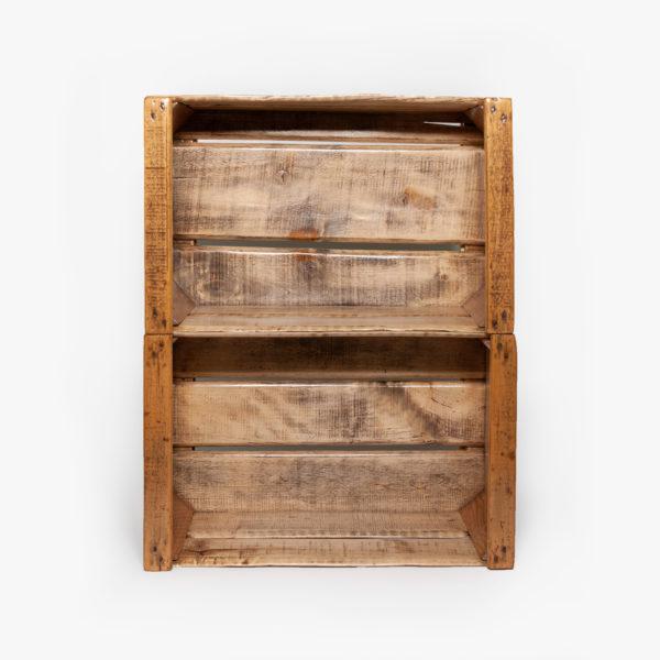 Étagère caisse rustique en bois éthique
