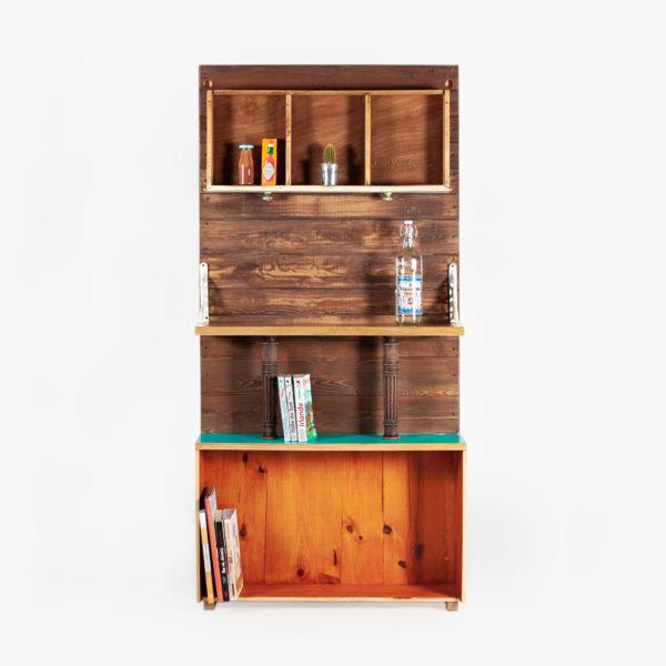 Étagère bibliothèque meuble d'entrée atypique éthique