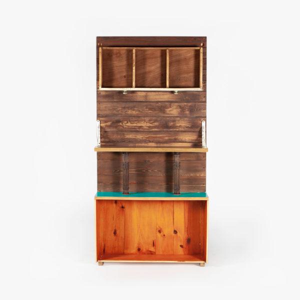 Étagère rustique atypique bois massif recyclé