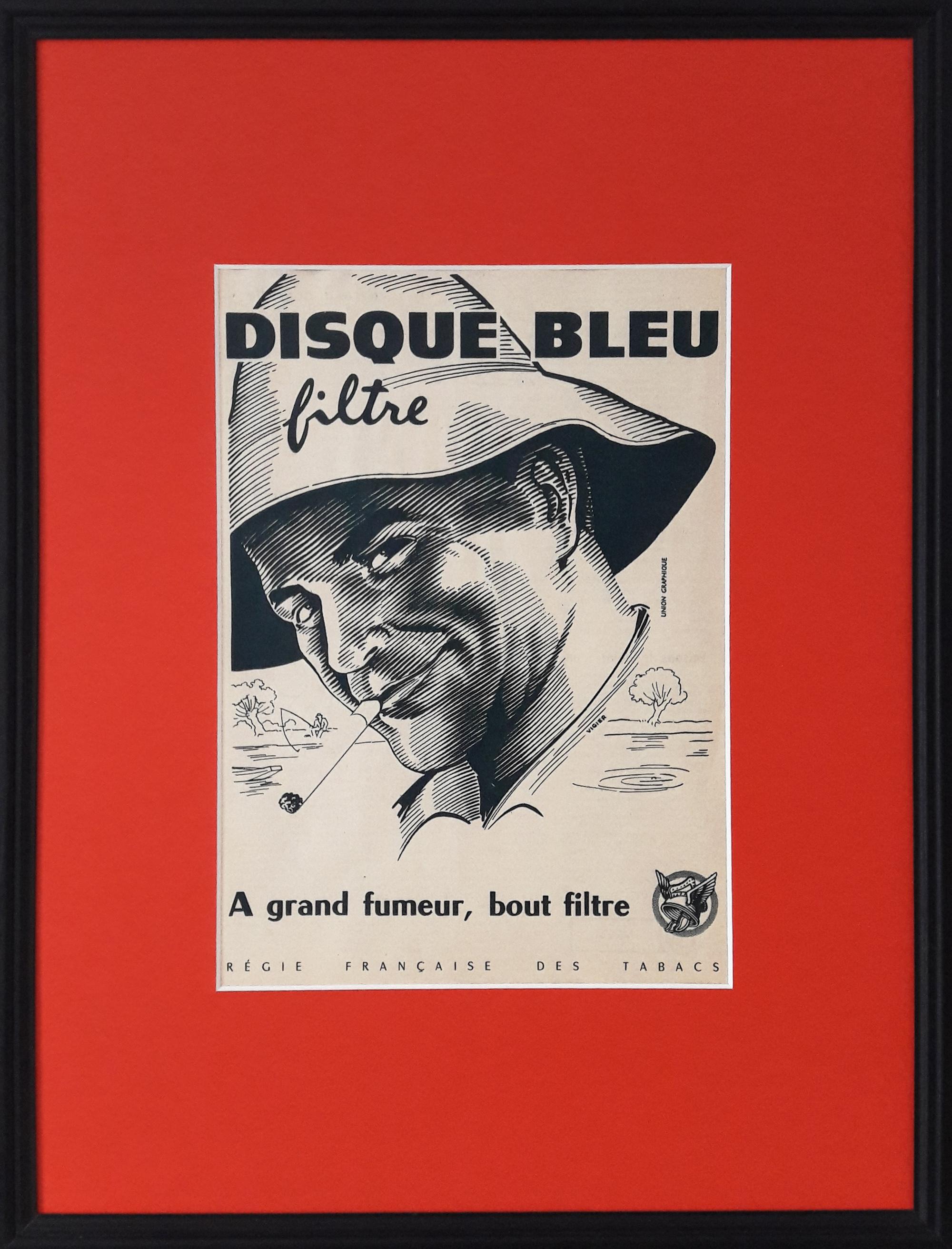 Encadrement coloré de publicité vintage
