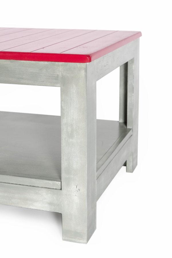 Table basse en bois customisée effet ciment