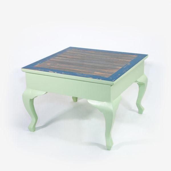 Table basse carrée bois vieilli recyclé