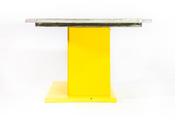 Table basse bois massif meuble éthique upcycling