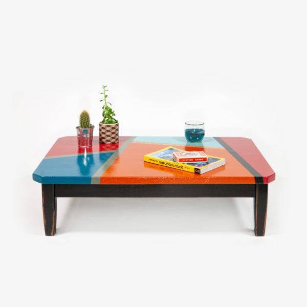 Table basse colorée design meuble éthique