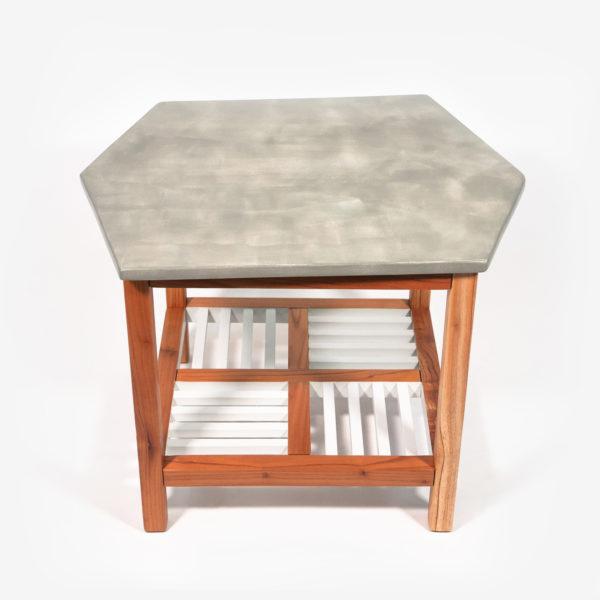 Table basse bois exotique grise éthique