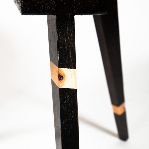 Table basse ronde écoresponsable pieds compas