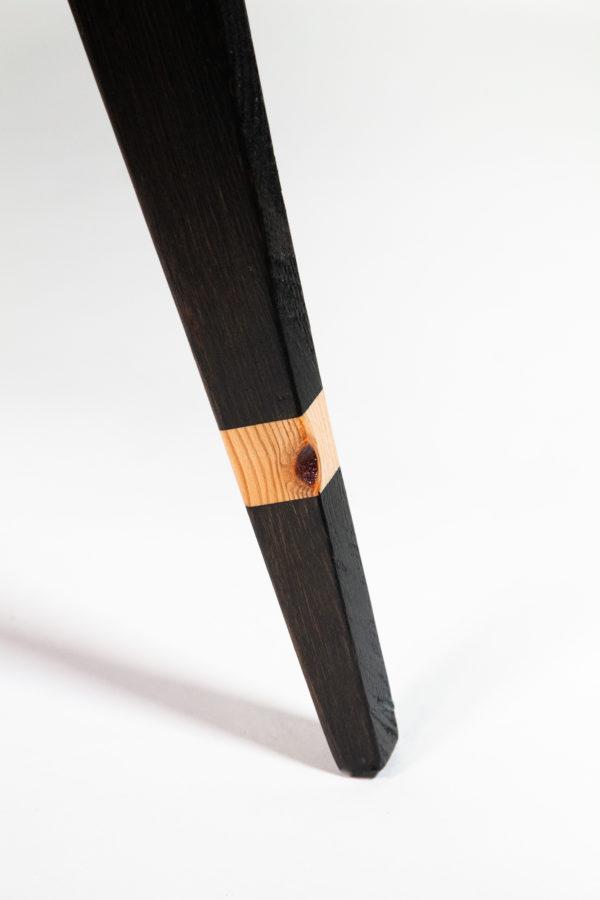 Table basse ronde écologique pieds compas