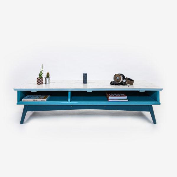 Meuble bas design scandinave bleu gris mobilier écologique