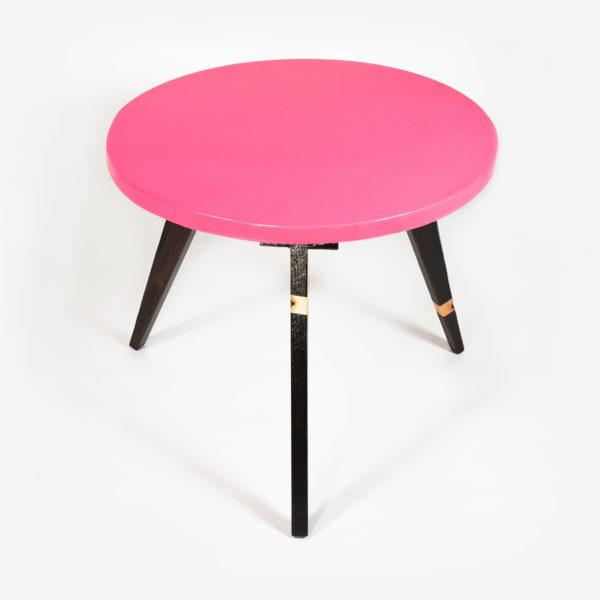 Table basse design bois massif pieds compas meuble éthique