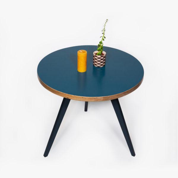 Table basse tripode éthique bois recyclé