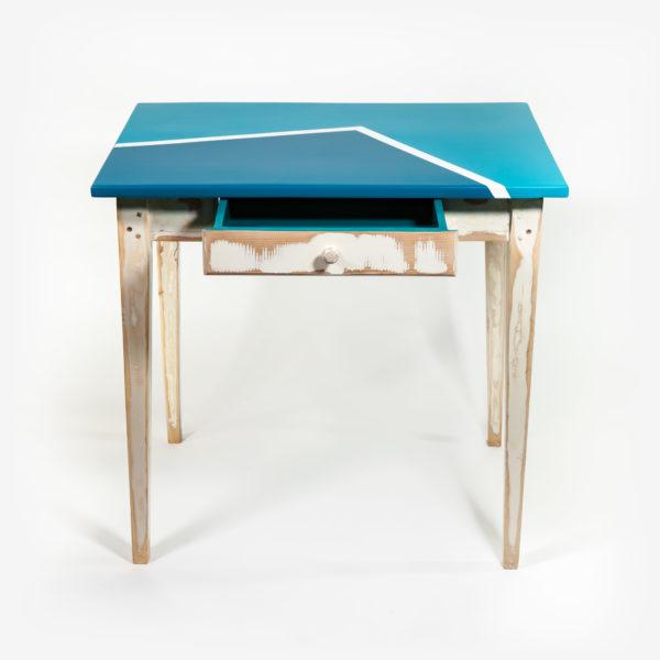 Table bureau avec tiroir design rustique meuble éthique