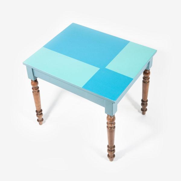 Table bureau écoresponsable bois design géométrique