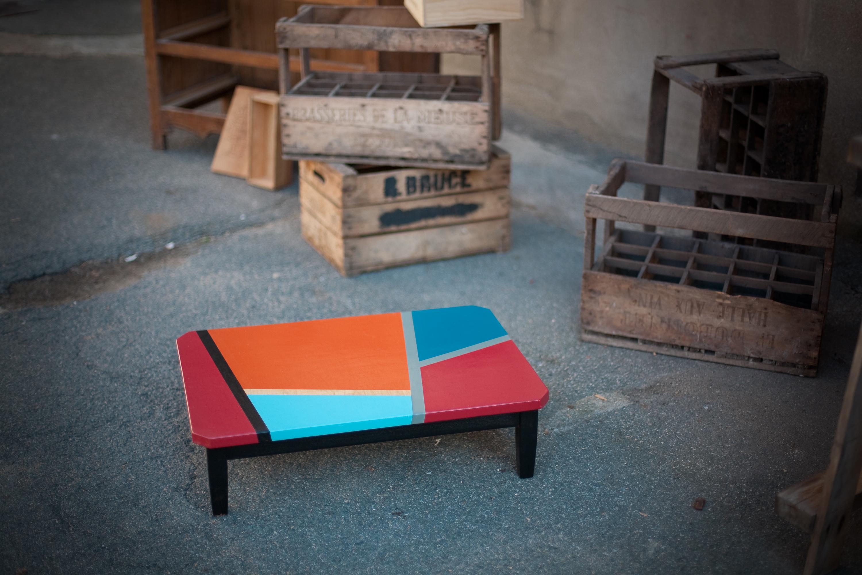 Récupération et customisation d'une table basse fabrique edmond