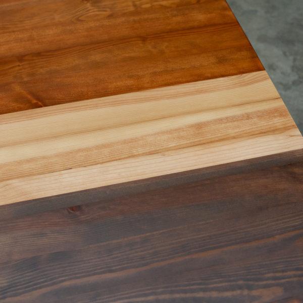 Table basse bois massif recyclé teintes colorées
