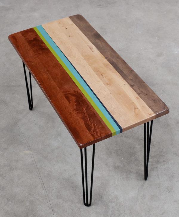 Table bureau en bois écoresponsable design coloré