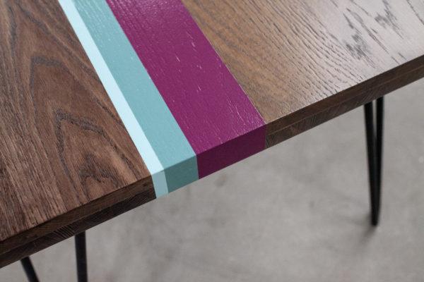 Table basse écoresponsable chêne massif coloré