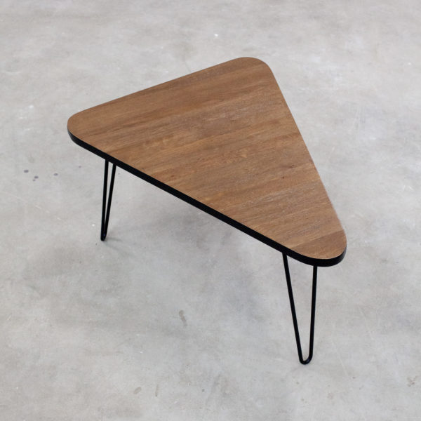 Table basse bois massif recyclé sur pieds épingles