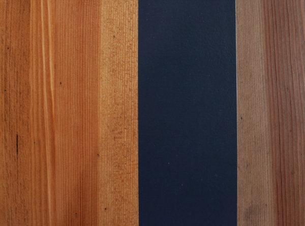 Plateau de table en bois massif customisation bandes de couleurs