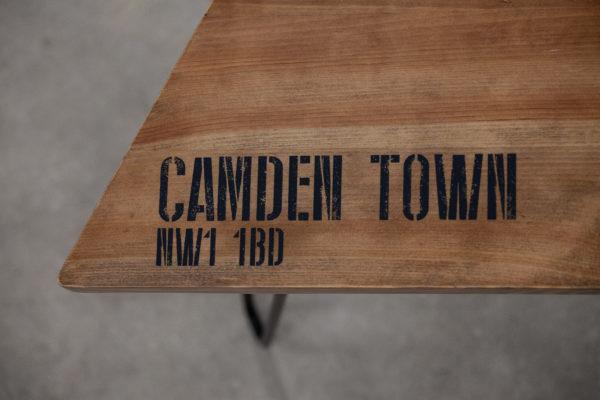 Table de chevet bois massif sérigraphié customisable