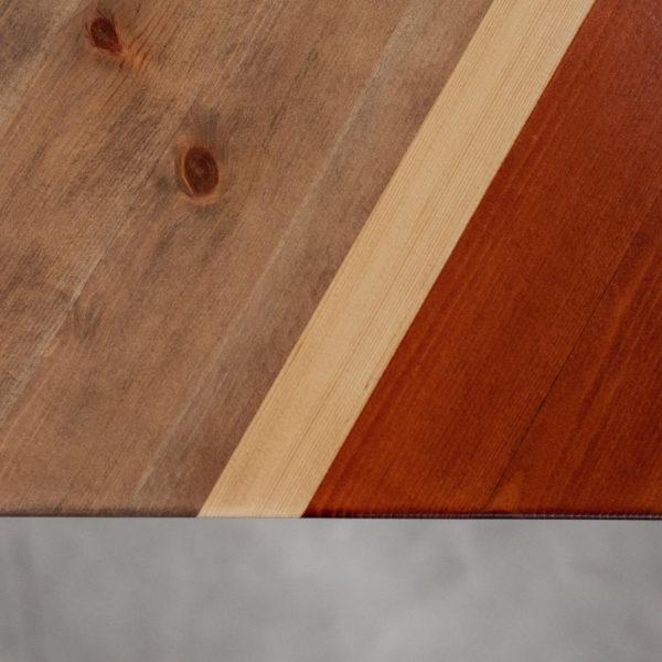 Table basse bois design bandes de teintes