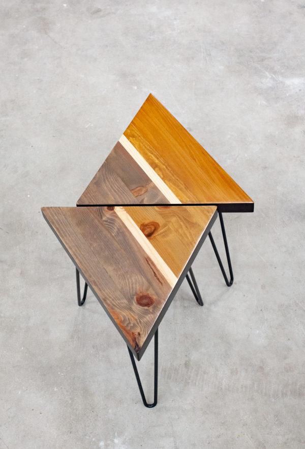 Tables d'appoint écoresponsables bois massif design
