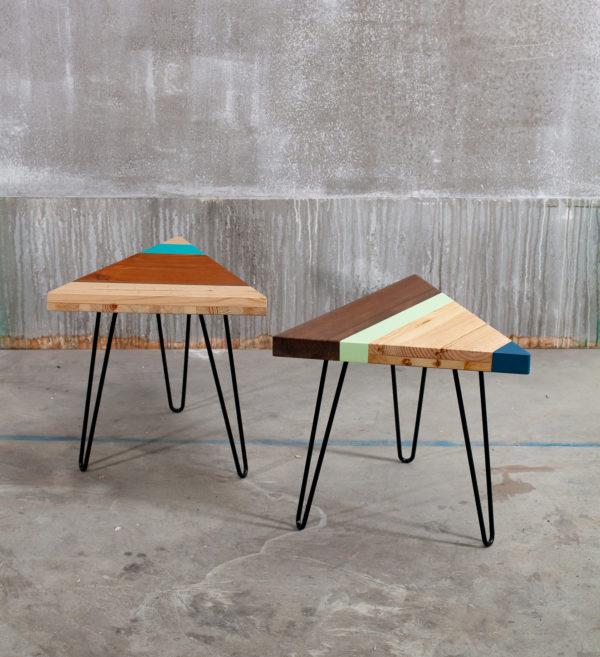 Tables de chevet en bois coloré design